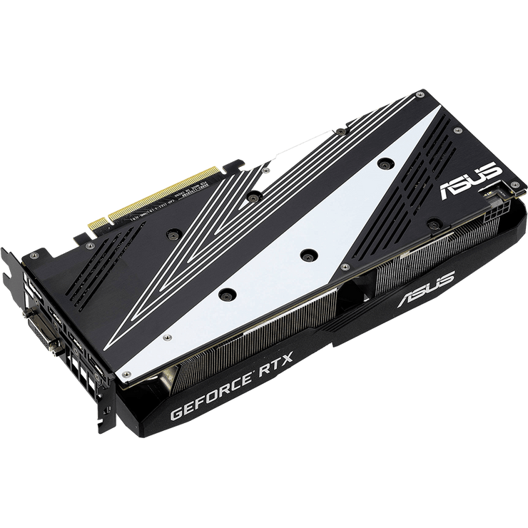 ASUS Dual GeForce RTX 2060 Graphics Card DUAL-RTX2060-6G  angular bottom view