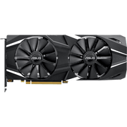 ASUS Dual GeForce RTX 2070 Graphics Card DUAL-RTX2070-8G  top fans view