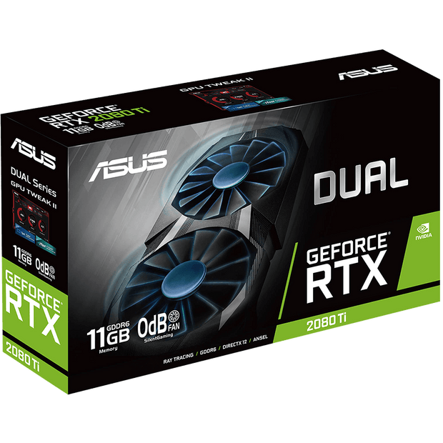 ASUS Dual GeForce RTX 2080 Ti Graphics Card DUAL-RTX2080TI-11G Box view