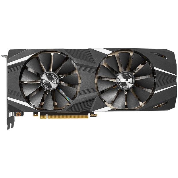 ASUS Dual GeForce RTX 2080 Ti Graphics Card DUAL-RTX2080TI-11G top fans view