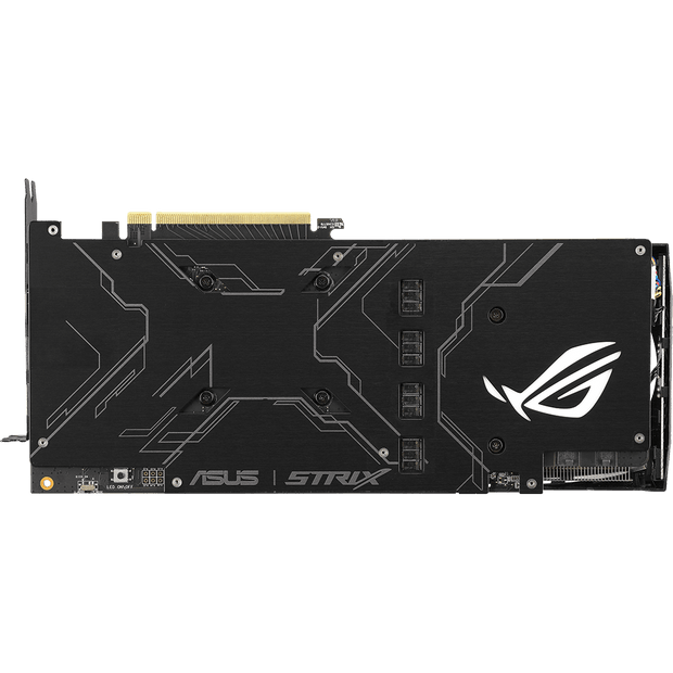 ASUS ROG Strix GeForce RTX 2070 Graphics Card ROG-STRIX-RTX2070-8G-GAMI bottom view