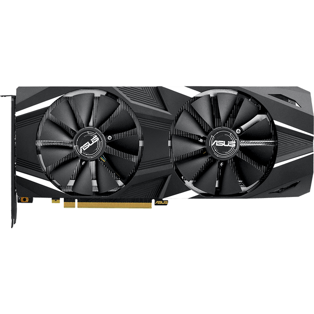 ASUS Dual GeForce RTX 2080 Graphics Card DUAL-RTX2080-8G top view