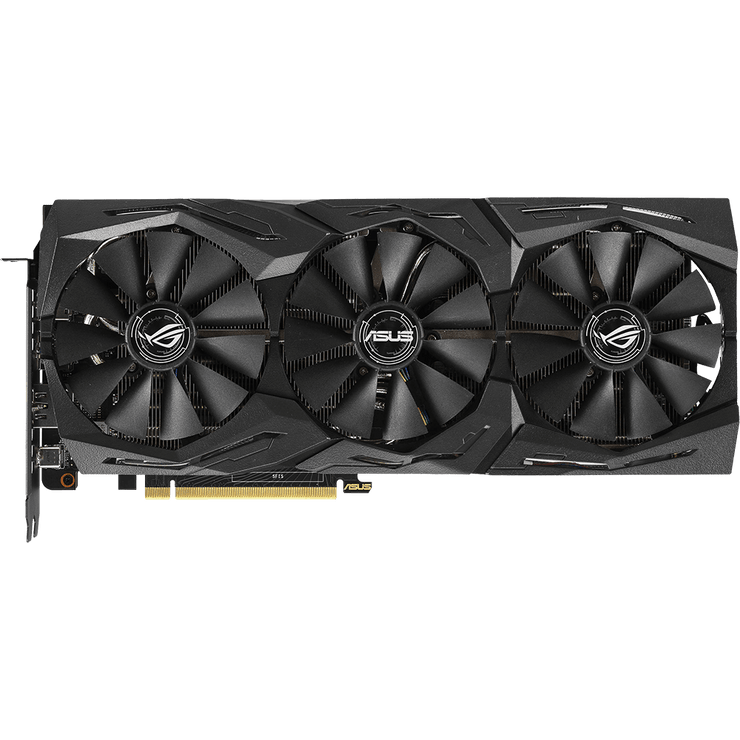 ASUS ROG Strix GeForce RTX 2070 Graphics Card ROG-STRIX-RTX2070-8G-GAMI fans top view