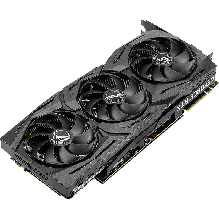 ASUS ROG Strix GeForce RTX 2080 Graphics Card ROG-STRIX-RTX2080-A8G-GAMING fans angular view
