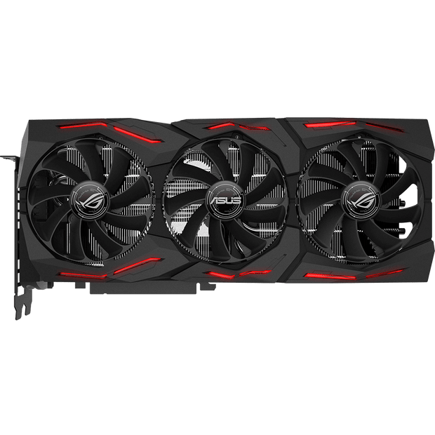 ASUS ROG Strix GeForce RTX 2080 Graphics Card ROG-STRIX-RTX2080-A8G-GAMING fans top view
