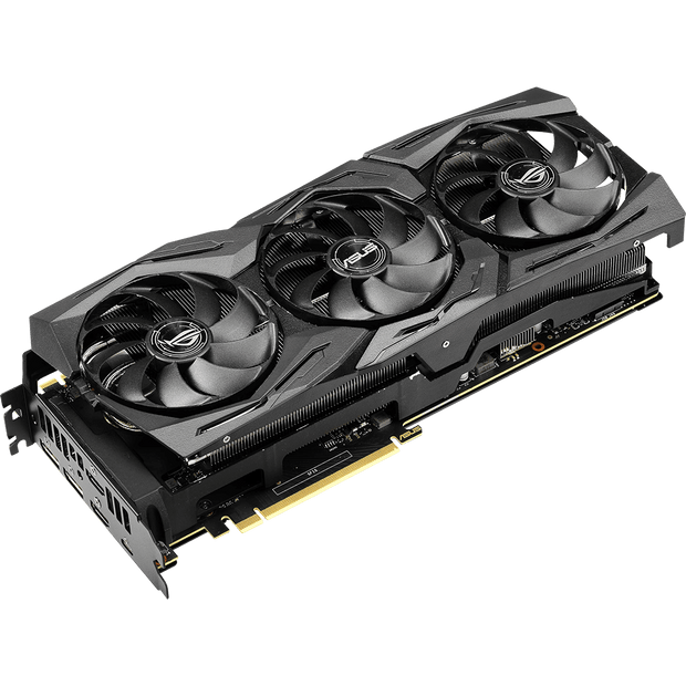 ASUS ROG Strix GeForce RTX 2080 Ti Graphics Card ROG-STRIX-RTX2080TI-11G-GAMING fans angular view