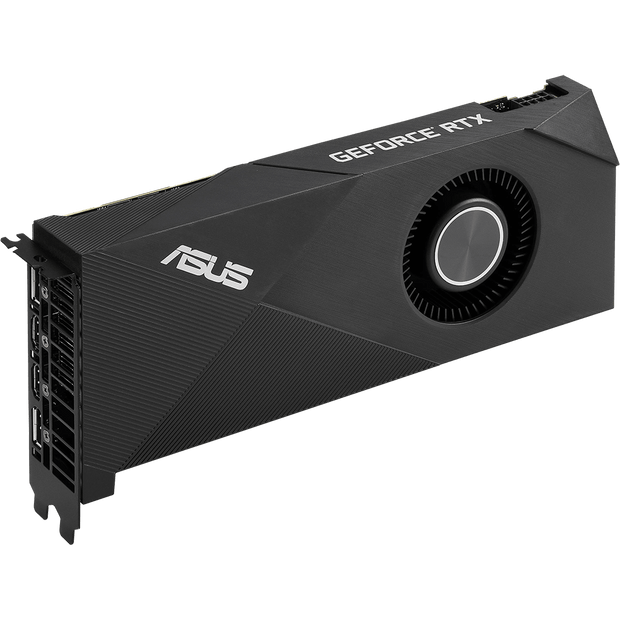 ASUS Turbo GeForce RTX 2060 Graphics Card TURBO-RTX2060-6G fan side view