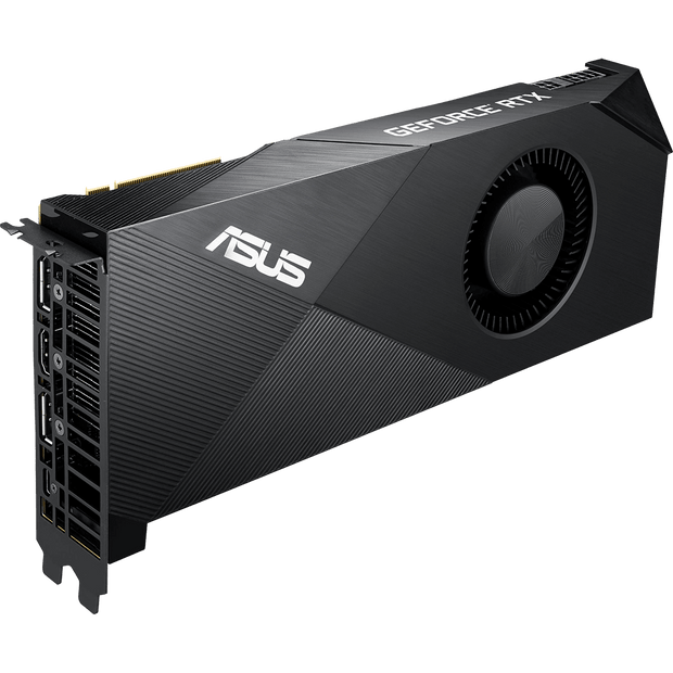 ASUS Turbo GeForce RTX 2080 OC Graphics Card TURBO-RTX2080-8G fan side view