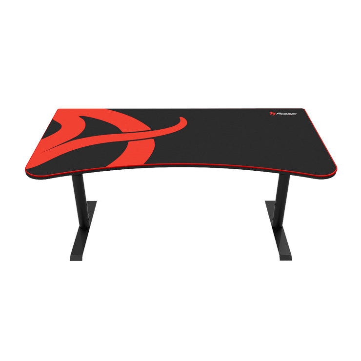 Arozzi Arena Gaming Desk - Black ARENA-NA-BLACK front view