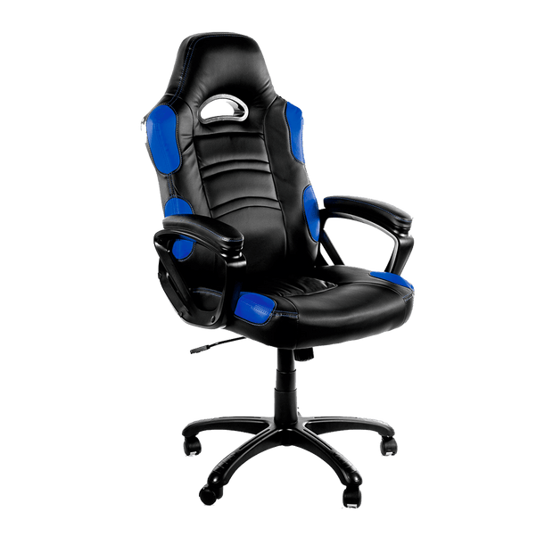 Arozzi Enzo Gaming Chair - Blue ENZO-BL sideways view