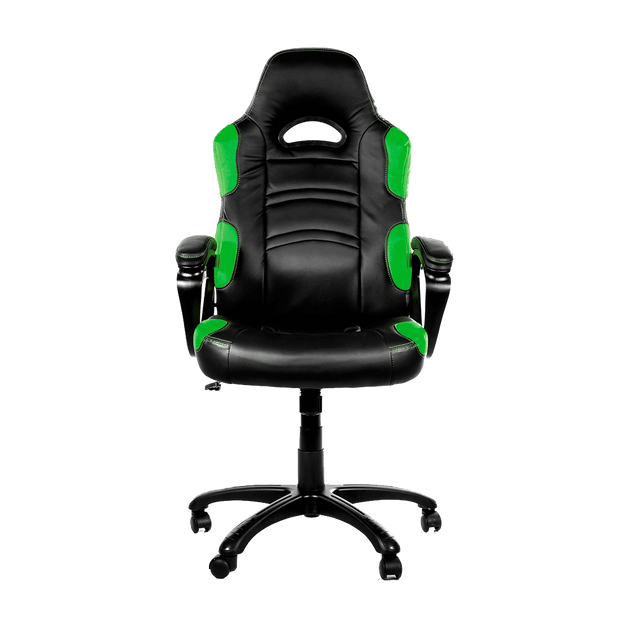Arozzi Enzo Gaming Chair - Green ENZO-GN front view