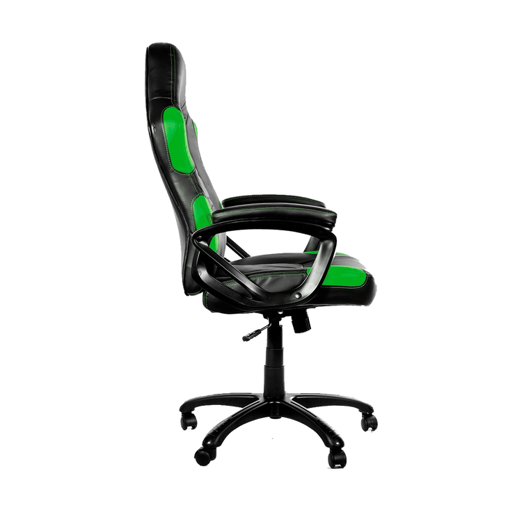 Arozzi Enzo Gaming Chair - Green ENZO-GN side view