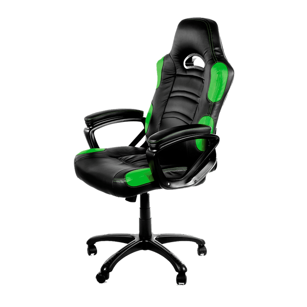 Arozzi Enzo Gaming Chair - Green ENZO-GN sideways view