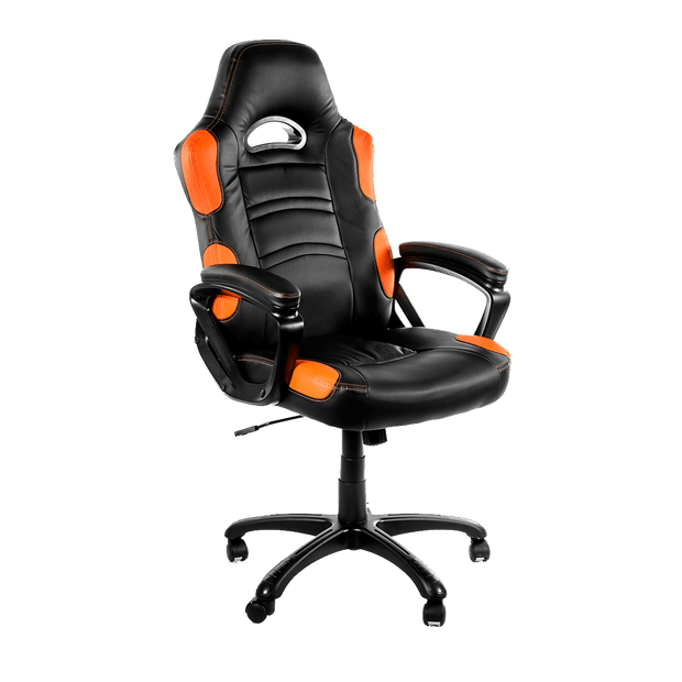 Arozzi Enzo Gaming Chair - Orange ENZO-OR sideways view