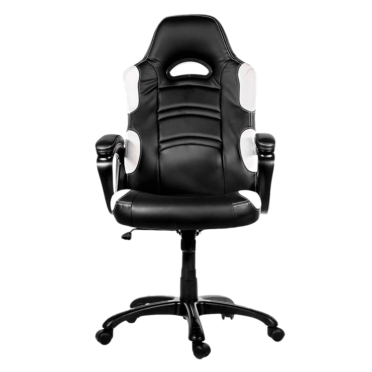 Arozzi Enzo Gaming Chair - White ENZO-WH front view