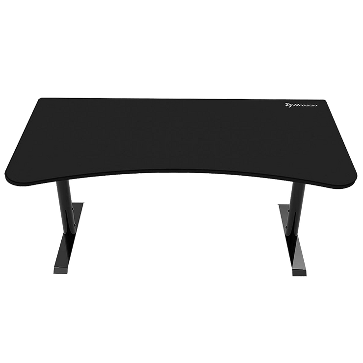 Arozzi Arena Gaming Desk - Pure Black ARENA-NA-PURE-BLACK front view