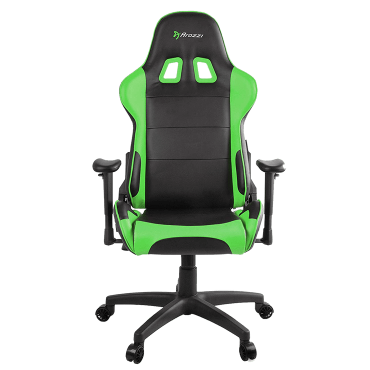 Arozzi Verona V2 Gaming Chair - Green VERONA-V2-GN front view