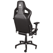 CORSAIR T1 RACE 2018 Gaming Chair - Black/White CF-9010012-WW angular back view