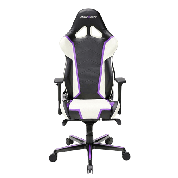 DXRacer Racing RH110/NWV Gaming Chair - White and Violet OH/RH110/NWV front view