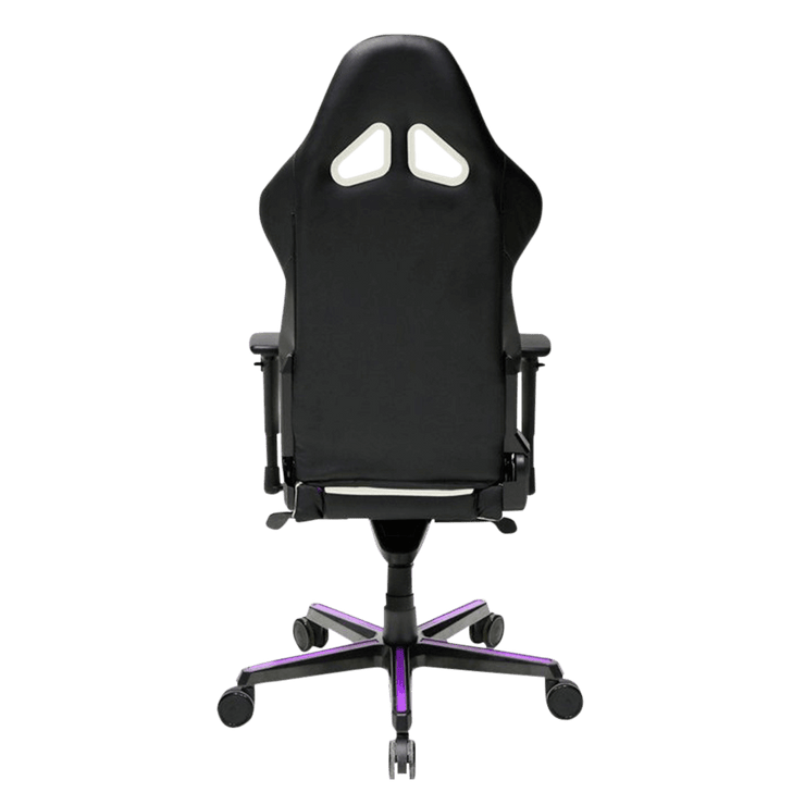 DXRacer Racing RH110/NWV Gaming Chair - White and Violet OH/RH110/NWV back view