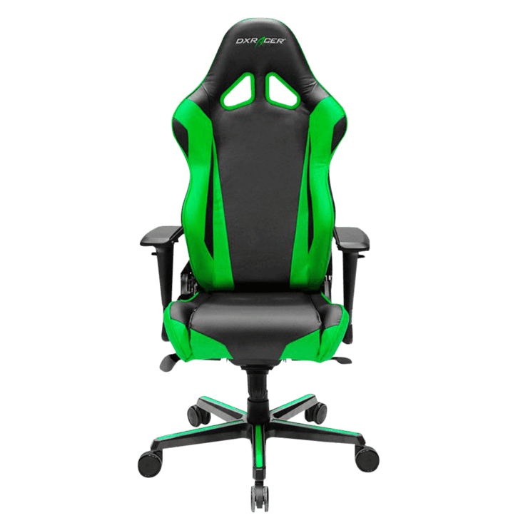 DXRacer Formula RV001/NE Gaming Chair - Green OH/RV001/NE front view