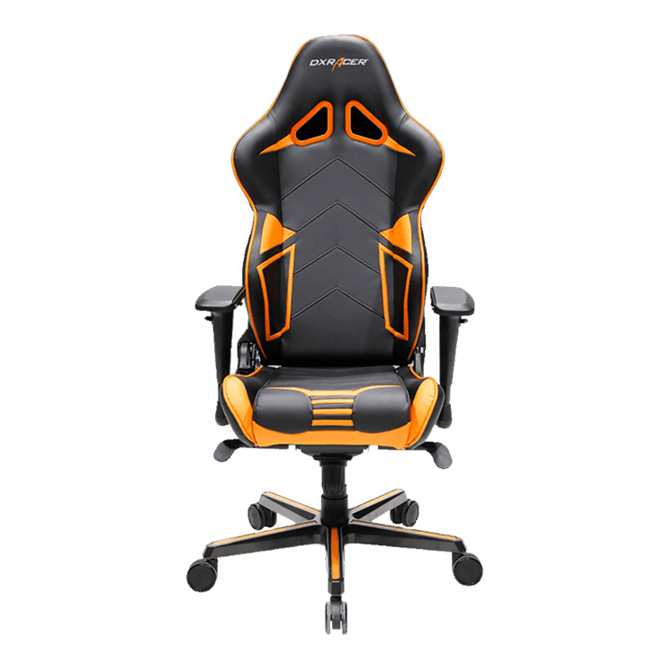 DXRacer Racing OH/RV131/NO Gaming Chair - Black/Orange OH/RV131/NO front view
