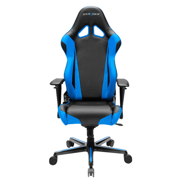 DXRacer Racing RV001/NB Gaming Chair - Blue OH/RV001/NB front view