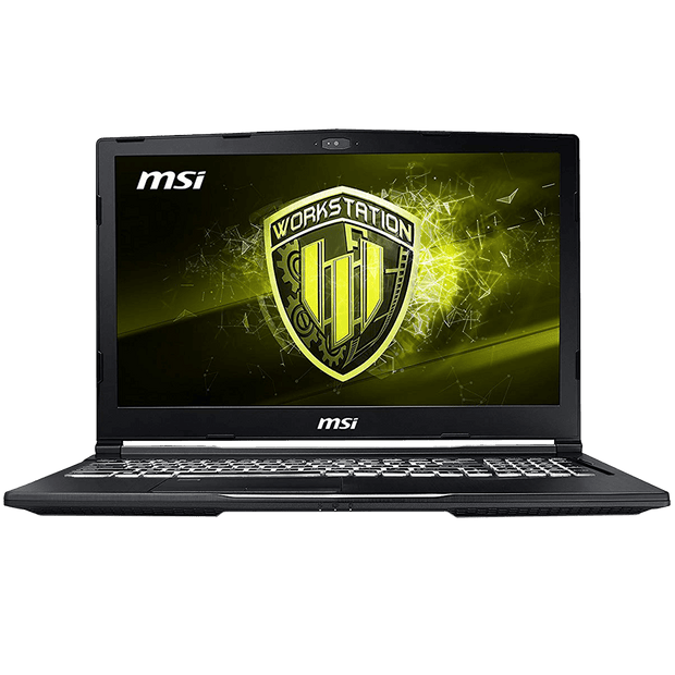 "MSI WE63 8SI-291CA 15.6"" Workstation WE63 8SI-291CA front view"