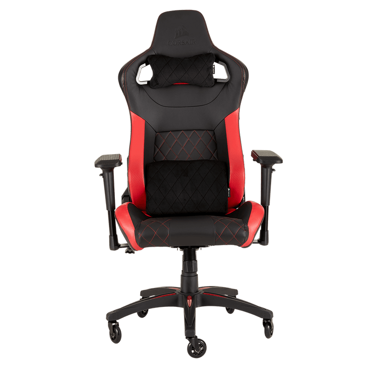 CORSAIR T1 RACE 2018 Gaming Chair - Black/Red CF-9010013-WW front view