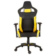 CORSAIR T1 RACE 2018 Gaming Chair - Black/Yellow CF-9010015-WW front view