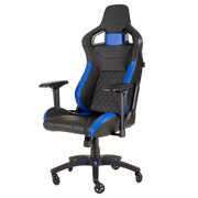 CORSAIR T1 RACE 2018 Gaming Chair - Black/Blue CF-9010014-WW front angular view