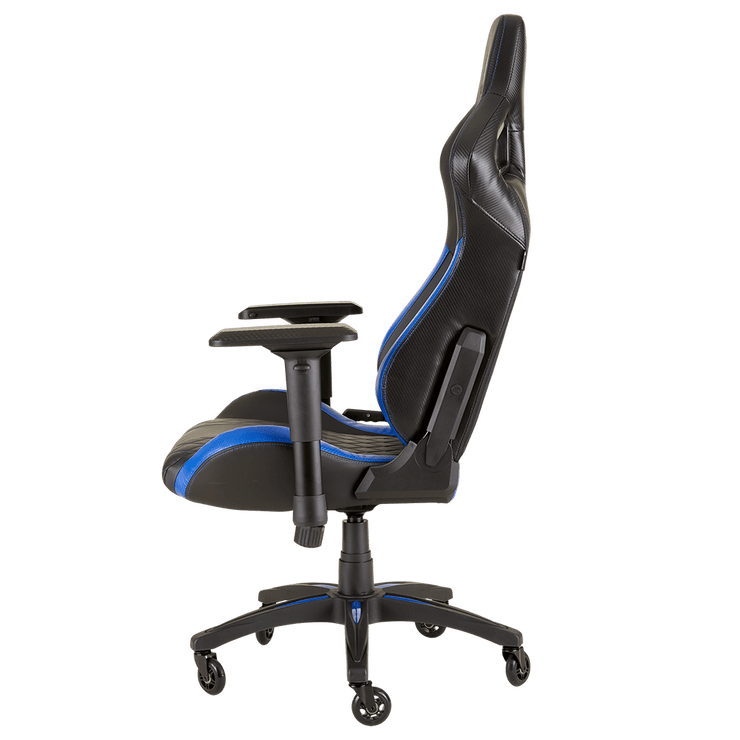 CORSAIR T1 RACE 2018 Gaming Chair - Black/Blue CF-9010014-WW side view