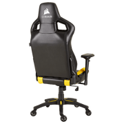 CORSAIR T1 RACE 2018 Gaming Chair - Black/Yellow CF-9010015-WW angular back view