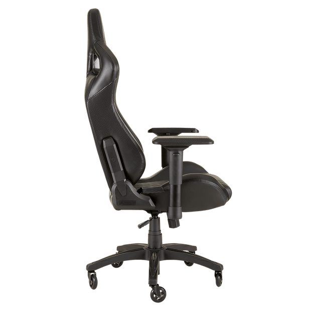 CORSAIR T1 RACE 2018 Gaming Chair - Black/Black CF-9010011-WW side view