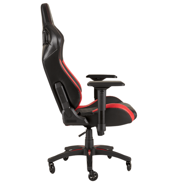 CORSAIR T1 RACE 2018 Gaming Chair - Black/Red CF-9010013-WW  side view
