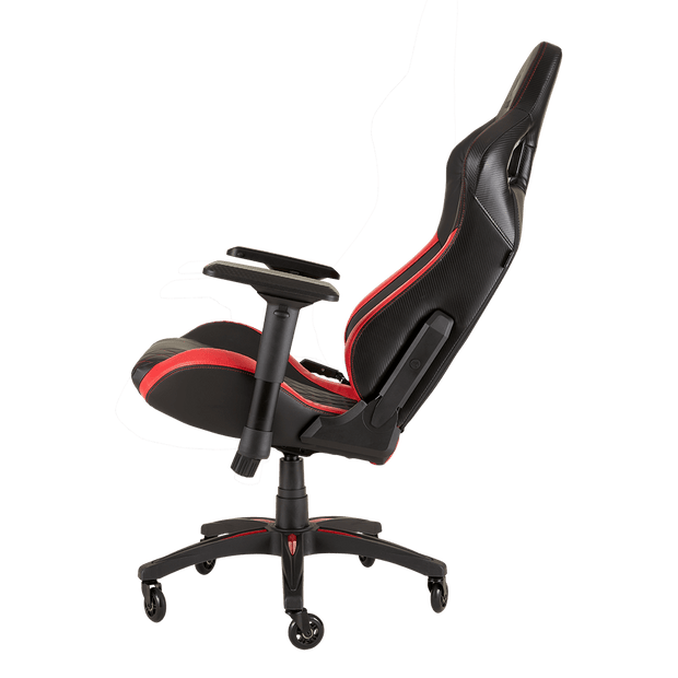 CORSAIR T1 RACE 2018 Gaming Chair - Black/Red CF-9010013-WW  tilted view