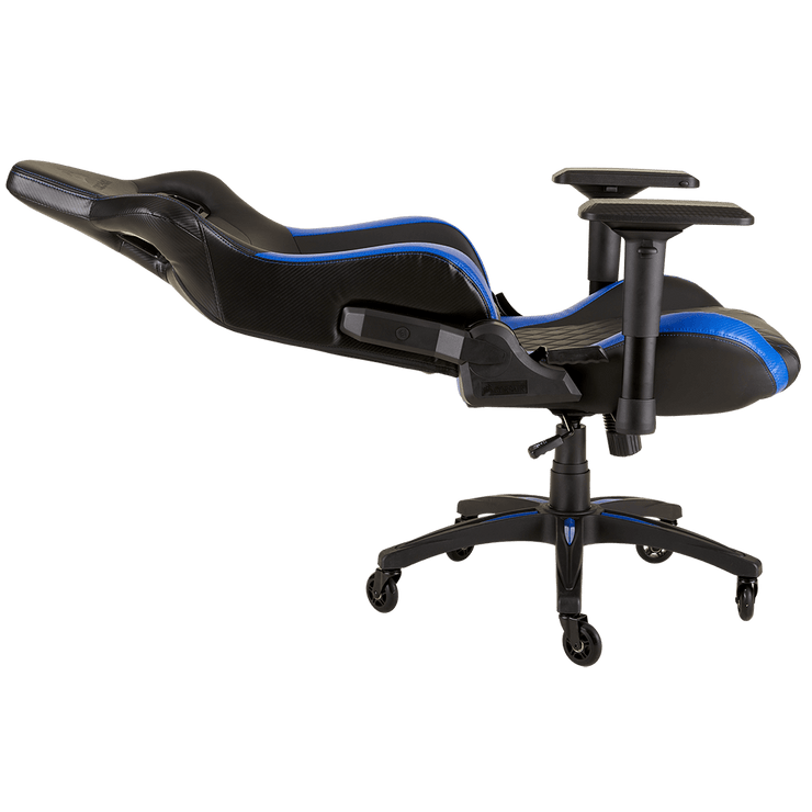 CORSAIR T1 RACE 2018 Gaming Chair - Black/Blue CF-9010014-WW seatdown view