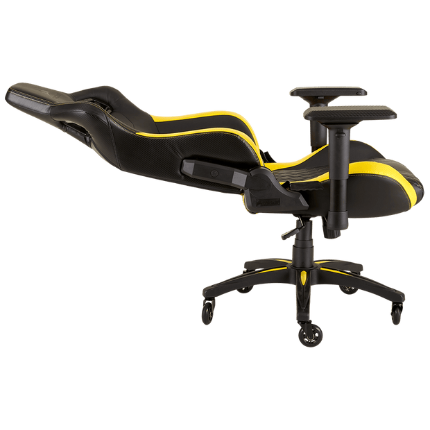 CORSAIR T1 RACE 2018 Gaming Chair - Black/Yellow CF-9010015-WW seatdown view