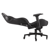 CORSAIR T2 ROAD WARRIOR Gaming Chair - Black/Black CF-9010006-WW leaning seat view