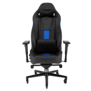 CORSAIR T2 ROAD WARRIOR Gaming Chair - Black/Blue CF-9010009-WW front view