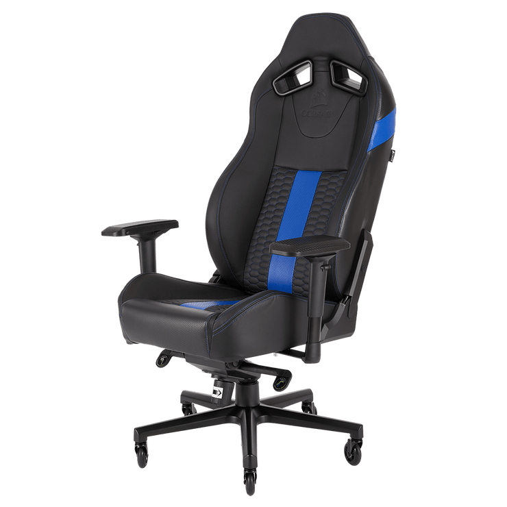 CORSAIR T2 ROAD WARRIOR Gaming Chair - Black/Blue CF-9010009-WW general view