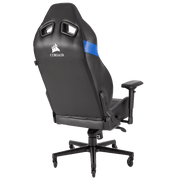 CORSAIR T2 ROAD WARRIOR Gaming Chair - Black/Blue CF-9010009-WW general back view