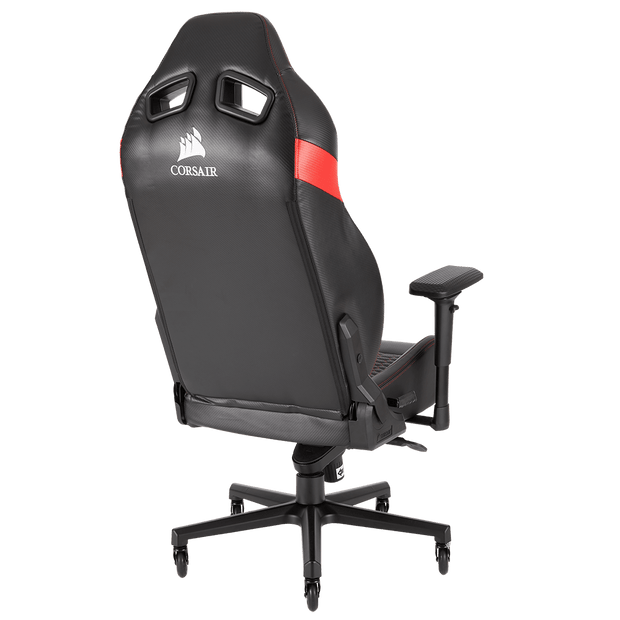 CORSAIR T2 ROAD WARRIOR Gaming Chair - Black/Red CF-9010008-WW general back view