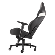 CORSAIR T2 ROAD WARRIOR Gaming Chair - Black/White CF-9010007-WW tilted seat view