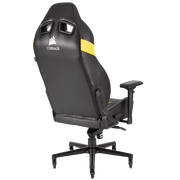 CORSAIR T2 ROAD WARRIOR Gaming Chair - Black/White CF-9010007-WW back view