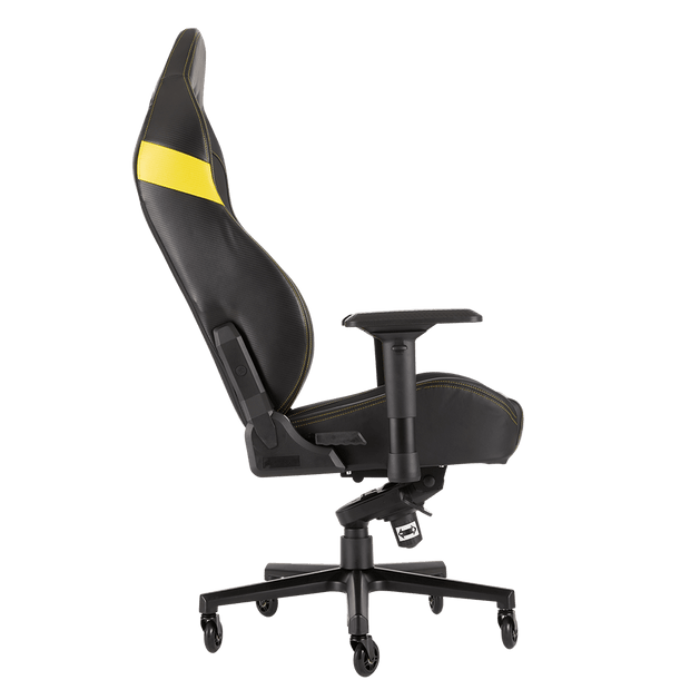CORSAIR T2 ROAD WARRIOR Gaming Chair - Black/White CF-9010007-WW side view
