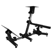 AROZZI Velocita Racing Simulator Stand - Black VELOCITA-BLACK sideways bottom view