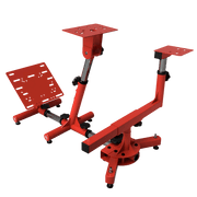 AROZZI Velocita Racing Simulator Stand - Red VELOCITA-RED back view