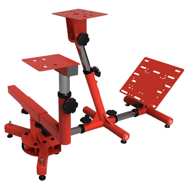 AROZZI Velocita Racing Simulator Stand - Red VELOCITA-RED side view