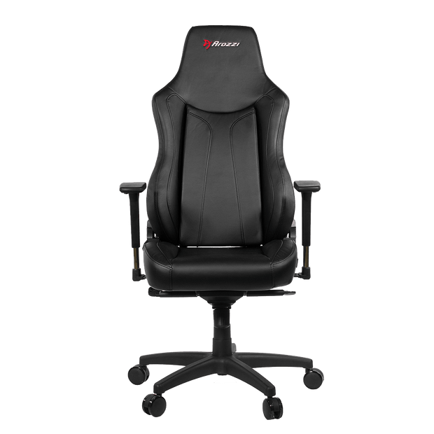 Arozzi Vernazza Gaming Chair - Black VERNAZZA-BK front view